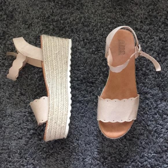 aa4bbcd4061 AMS Platform Espadrille Sandals